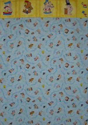 Blue & Yellow Key to the Future Famous People Baby Cartoons Standard Pillowcase