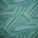 F8 Blue Green Purple White Geometric Shapes on Green Cotton Fabric Fat Eighth F8th