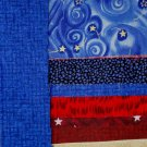Patriotic Picnic Quilt Kit with Red White Blue Fabrics Beginner Weekend Project