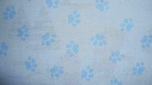 FQ Disney 101 102 Dalmatians Puppy Paw Prints on Blue Cotton Fabric Fat Quarter