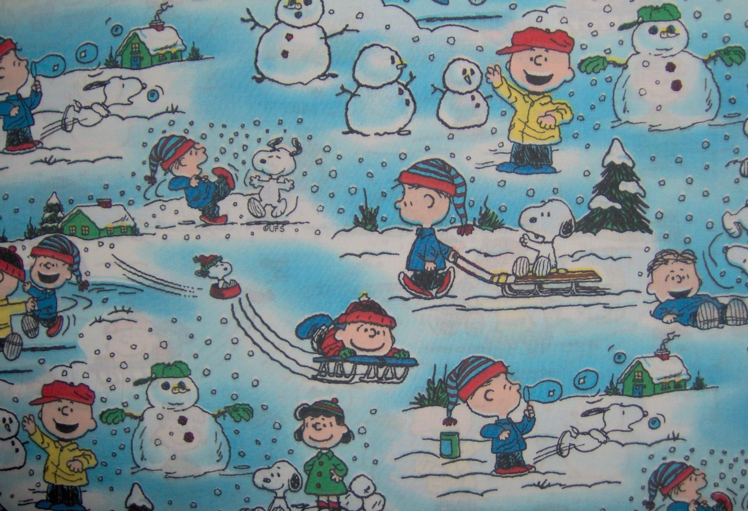 1 2 Yard Peanuts Chalie Brown Snoopy Winter Fun For