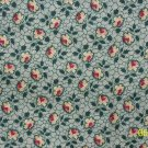 1.5+ Yard CHANTECLAIRE CLASSIC BLOOMS Red Yellow Flowers on Green REPRO COTTON FABRIC Bolt End