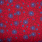 7/8 Yard English Collection Red Fuschia Vine Flowers by David Textiles Bolt End