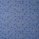 F8 Purple Yellow Blue Floral Cotton Fabric Fat Eighth F8th by Marcus Bros