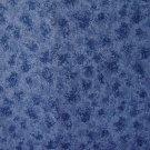 """8 3/4"""" Speckled Mottled Slate Blue Cotton Fabric Bolt End"""