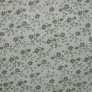 BTY Little Quilts Berries and Cream Repro Green Calico Flower Cotton Quilt Fabric By the Yard