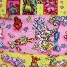F8 Pack Doggity Woggles & Catnipz Pink & Yellow Cotton Fabric Fat Eighths F8ths