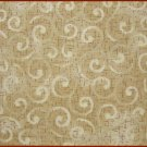 FQ Harvest Melody Cream & Tan Swirls Cotton Benartex Fabric Fat Quarter