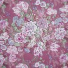 3/8 Yard Pink Blue & Purple Flowers on Mauve Fabric Bolt End