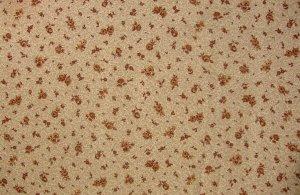 5/8 Yard Brown Flower Calico on Cream Cranston Print Works VIP Fabric Bolt End