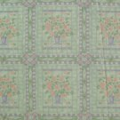 "1 metre 4"" Daisy Flower Bouquet Blocks on Green Fabric Bolt End"