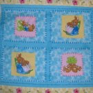 Beatrix Potter Peter Rabbit Quilt Top Wall Hanging Pillow Cotton Fabric Panel