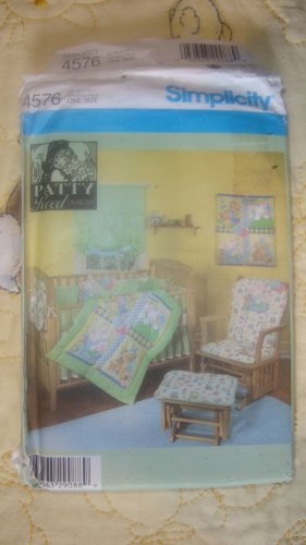 Simplicity Baby Nursery Quilt Wall Hanging Bumpers Sheet Crib Caddy Pattern # 4576