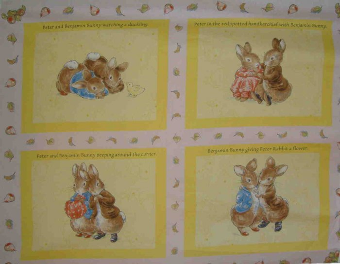 Beatrix Potter Peter Rabbit Benjamin Bunny Pink Wall