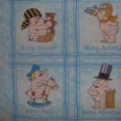 BTY Key to the Future Blue Famous Baby Cartoon Blocks Kids Fabric Print Concepts By the Yard