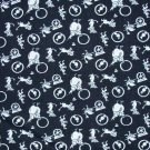 RJR Everything But the Kitchen Sink White & Black Circus Toss 1930s Repro Fabric Bolt End