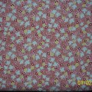 BTY Everything But the Kitchen Sink Red Yellow & Pink Flowers 1930s Repro Fabric by RJR By the Yard