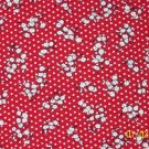 BTY RJR Everything But the Kitchen Sink White Flowers on Red 1930s Repro Quilt Fabric By-the-Yard
