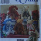 "Elaine Heigl Designs 18"" Teddy Bear & Clothes Pattern # 7895 by Simplicity Crafts"