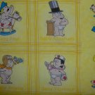Key to the Future Yellow Famous People Baby Blocks Cotton Fabric by Print Concepts BTY By-the-Yard