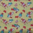 Granny's Nursery Rhymes Mary Lamb Bo Peep Sheep on Yellow Repro Kids Fabric 1+ Yard