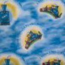 The Little Engine That Could Blue Train Toss Kids Fabric BTY SMALL DEFECT PLEASE READ