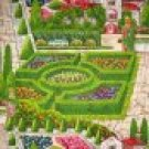 BTY Michael Miller Garden Flower Pictorial Fabric By the Yard