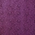 Purple Tonal Roses Flowers 7/8+ Yard Quilt Fabric Remnant by Joan Messmore for Cranston Print Works