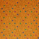 Bolt End Peter Pan Kaleidoscope Confetti on Orange Cotton Fabric 1.5 Yard