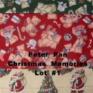 +/- 8 Yards Peter Pan Christmas Memories 4 Designs Cotton Quilt Fabric Lot #1