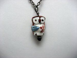 A Shy Owl Pendant Necklace