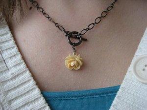Victorian Bridal Rose Vintage Necklace