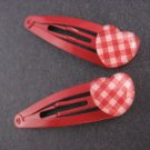 Red heart Hair Clips