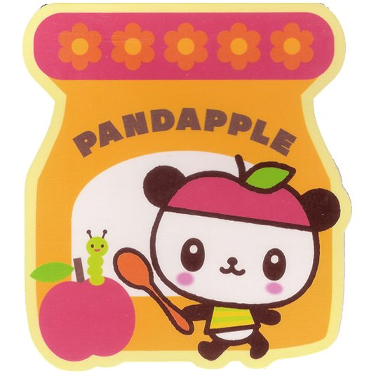 Pandapple Mini Memo Pad #1 - with Apple Scent Sanrio Kawaii