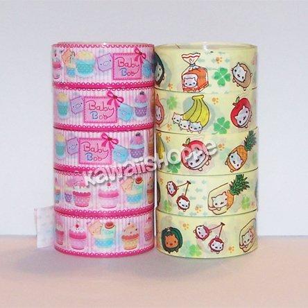 Deco Tape Lot - 5 Mamegoma & 5 Baby Boo