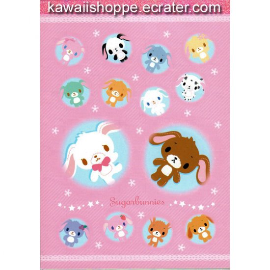 Pink Sugarbunnies Memo Pad Sanrio Kawaii
