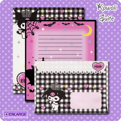 Kuromi *Crowned* Letter Set by Sanrio (Made in Japan) kawaii