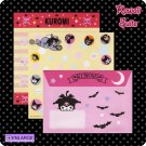 Kuromi *Pirates, Tennis, & Bats, Oh My!* Letter Set by Sanrio (Made in Japan) kawaii