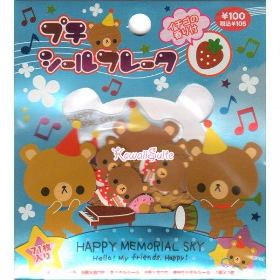 Kamio Japan Happy Memorial Sky Sticker Sack - Stickers Sacks Kawaii Bear