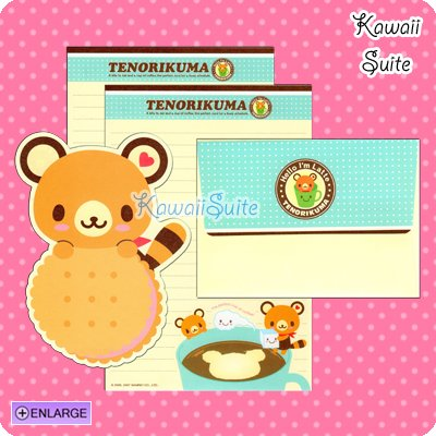 Tenorikuma Coffee & Biscuits Letter Set by Sanrio Kawaii Cookies