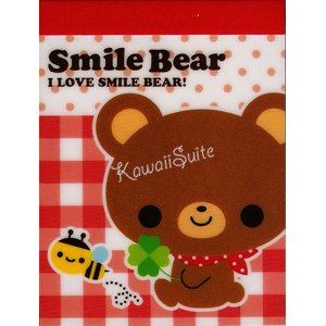 Q-Lia *Smile Bear* Mini Memo Pad Kawaii Cute Bears