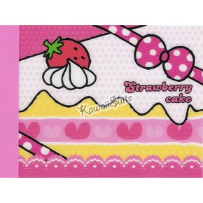 Kamio Japan *Strawberry Cake* Mini Memo Pad Kawaii Strawberries, Cakes, Desserts, Frosting
