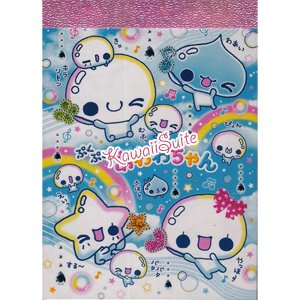 Kamio Japan *Awawa Chan* Mini Memo Pad Kawaii Bubbles Clouds Stars Rainbows Drops Rain