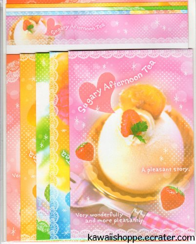 CRUX *Sugary Afternoon Tea* Letter Set Kawaii Desserts Sweets Strawberry Fruits Berry