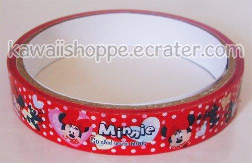 Disney Minnie Mouse *So Glad You're Mine* Valentine Hearts Deco Tape