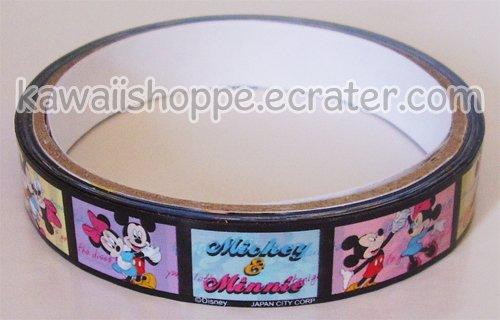 Disney Mickey & Minnie Dancing in Filmstrip Deco Tape #8