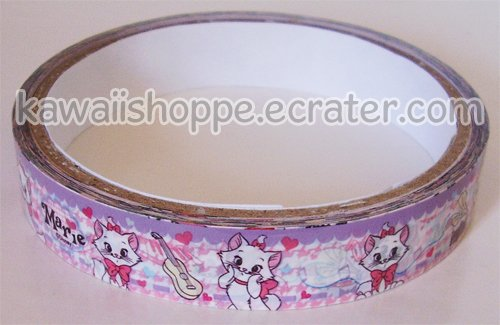 Disney Marie Cat Deco Tape - Lavender, The Aristocats