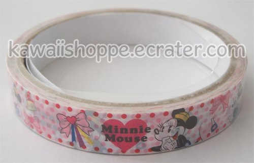 Disney White Minnie Mouse Deco Tape #4 Red Dots