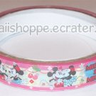 Disney Mickey & Minnie Mouse Deco Tape #7 Pink & White w/ Cherries
