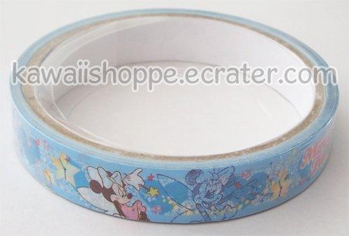 Disney Minnie Mouse Deco Tape #10 *Fairy* Blue w/ Stars